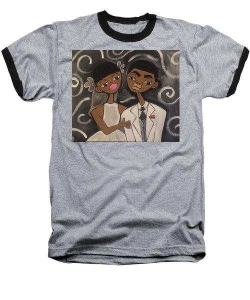 We're Married Baseball T-Shirt