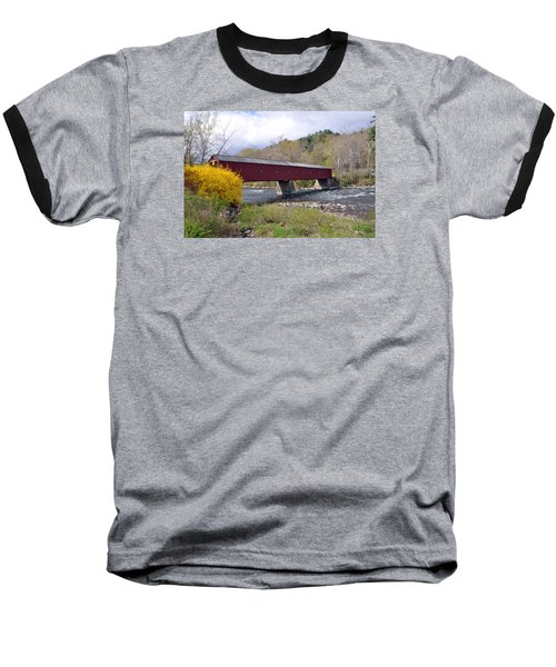 West Cornwall Ct Covered Bridge Baseball T-Shirt