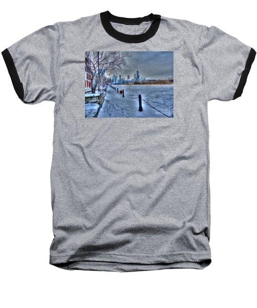 West From Navy Pier Baseball T-Shirt by David Bearden