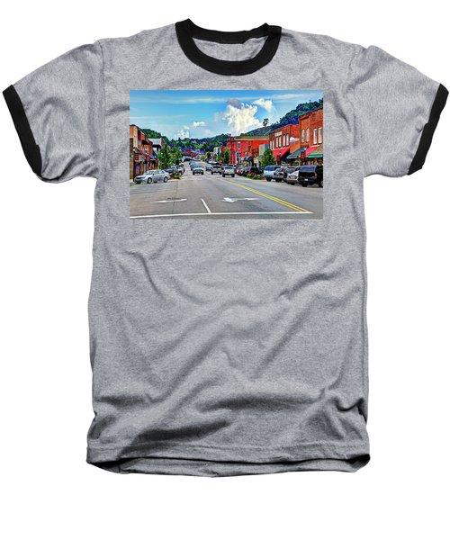 West Jefferson Streetscape Baseball T-Shirt by Dale R Carlson