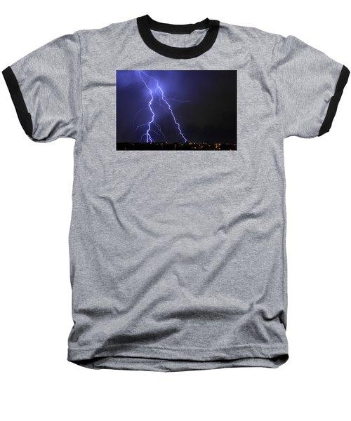 West Jordan Lightning 1 Baseball T-Shirt by Paul Marto