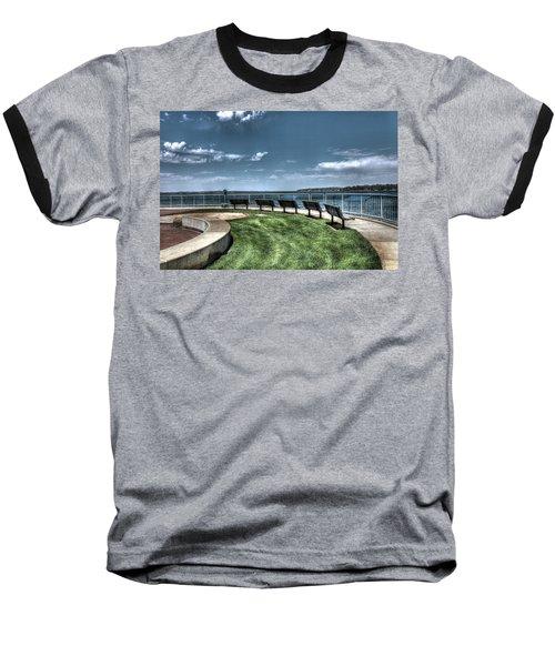 West Lake Okoboji Pier Baseball T-Shirt