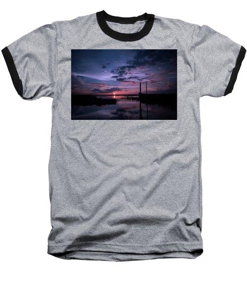 West Lake Toho Blu Indigo Sunset Baseball T-Shirt