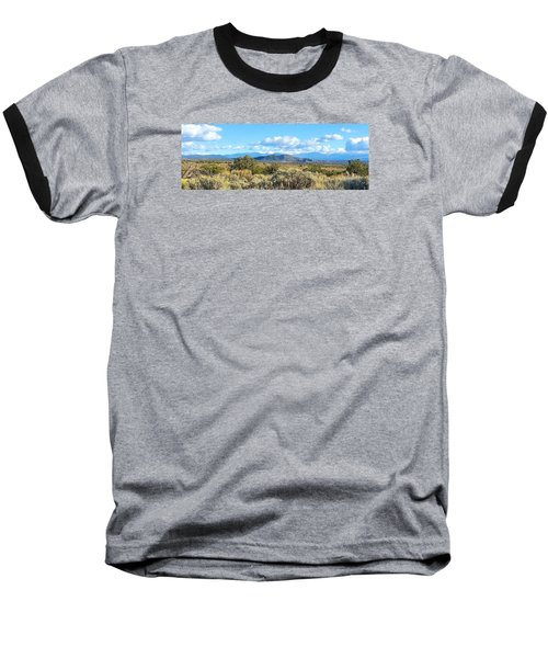 West Of Taos Baseball T-Shirt by Brenda Pressnall