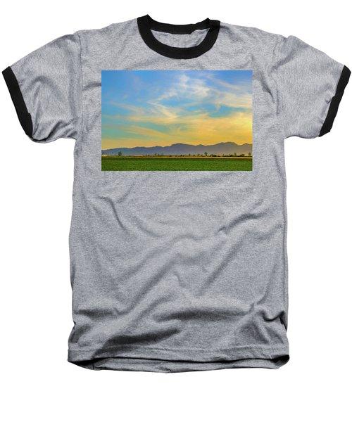 West Phoenix Sunset Digital Art Baseball T-Shirt