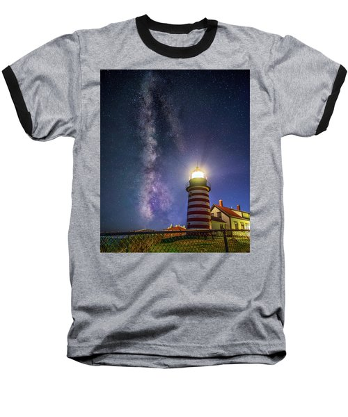 West Quoddy Head Lighthouse Baseball T-Shirt