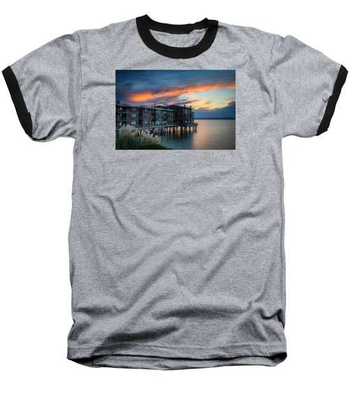 Baseball T-Shirt featuring the photograph West Seattle Living by Dan Mihai
