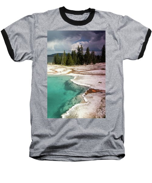 West Thumb Geyser Pool Baseball T-Shirt