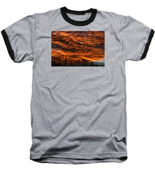 West Virginia Afterglow Baseball T-Shirt by Thomas R Fletcher