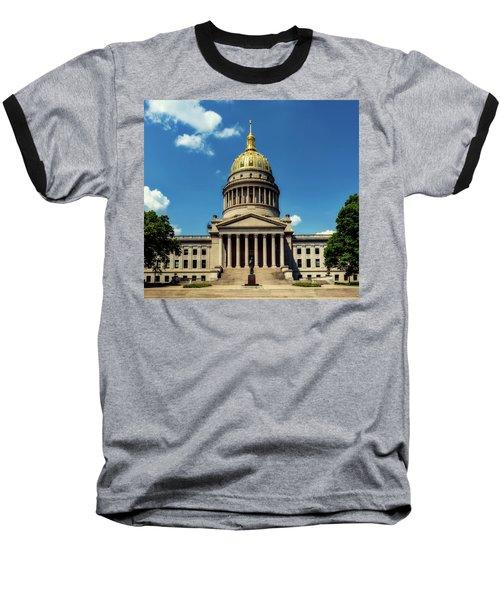 West Virginia Capitol - Charleston Baseball T-Shirt by L O C