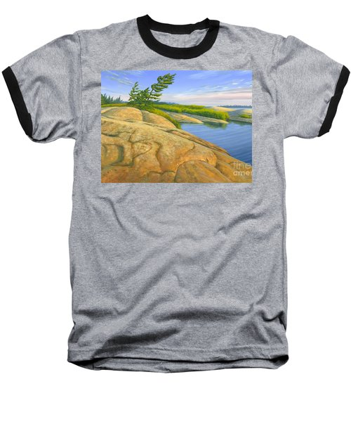 Baseball T-Shirt featuring the painting Wind Swept by Michael Swanson