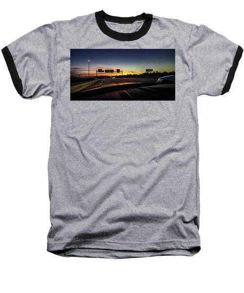 Baseball T-Shirt featuring the photograph Westbound by Randy Scherkenbach