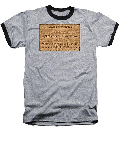 Western Ammunition Box Baseball T-Shirt by American West Legend By Olivier Le Queinec
