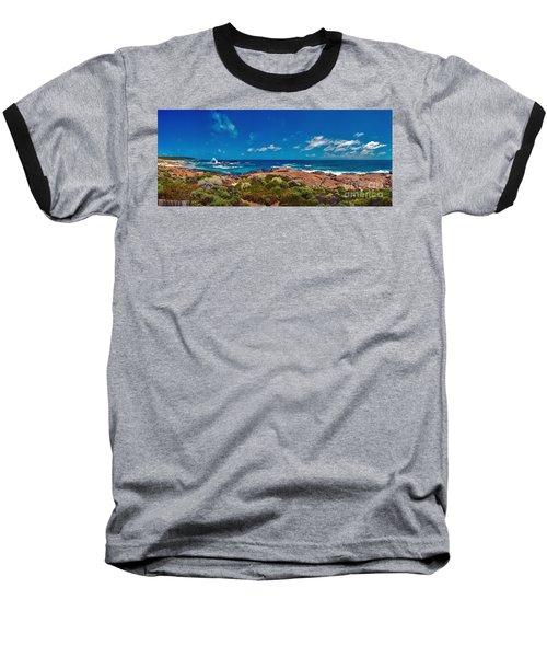 Baseball T-Shirt featuring the photograph Western Australia Beach Panorama by David Zanzinger