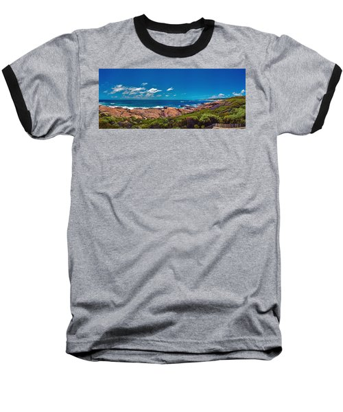 Baseball T-Shirt featuring the photograph Western Australia Beach Panorama Margaret River by David Zanzinger