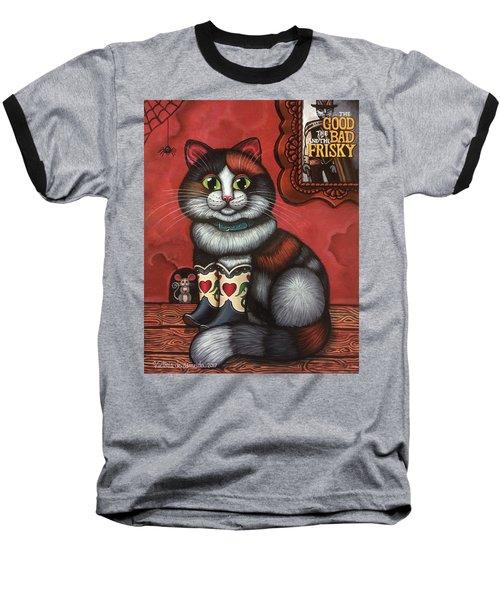 Western Boots Cat Painting Baseball T-Shirt
