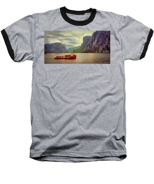 Baseball T-Shirt featuring the painting Western Brook Pond by Jeff Kolker