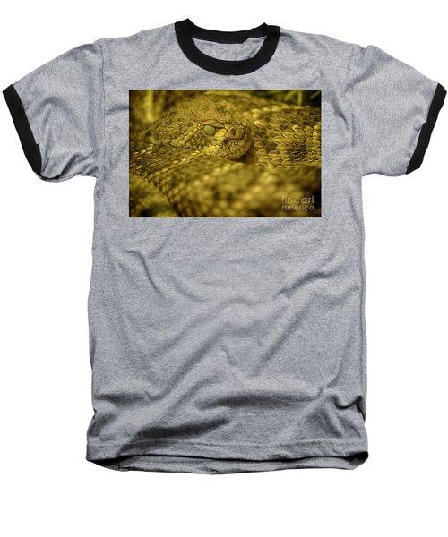 Baseball T-Shirt featuring the photograph Western Diamondback Rattlesnake by Anne Rodkin