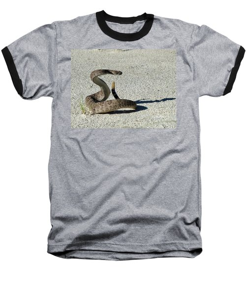 Western Diamondback Rattlesnake Baseball T-Shirt