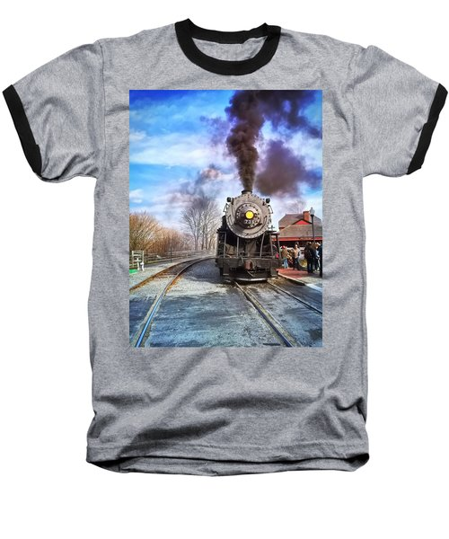 Western Maryland Steam Engine Baseball T-Shirt
