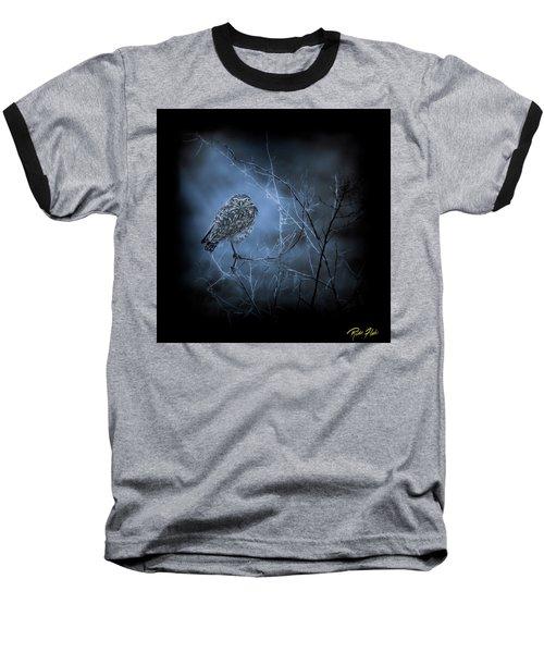 Baseball T-Shirt featuring the photograph Western Owl Gloom by Rikk Flohr