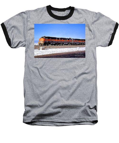 Western Pacific Diesel Locomotive Trainset Baseball T-Shirt