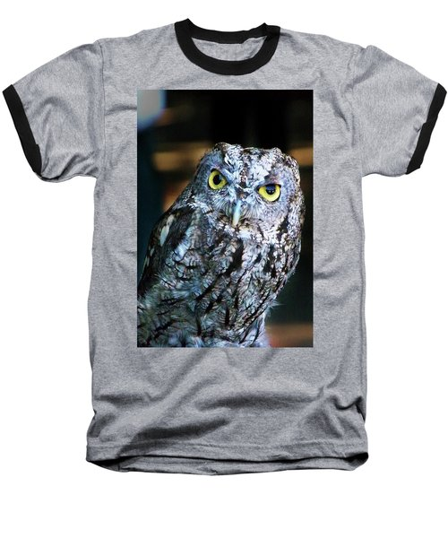 Baseball T-Shirt featuring the photograph Western Screech Owl by Anthony Jones