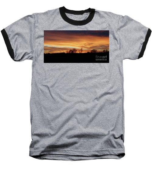 Western Sky December 2015 Baseball T-Shirt by J L Zarek