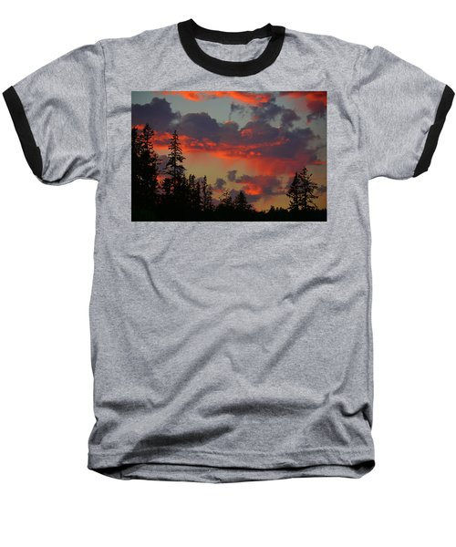 Western Sky Fire Baseball T-Shirt