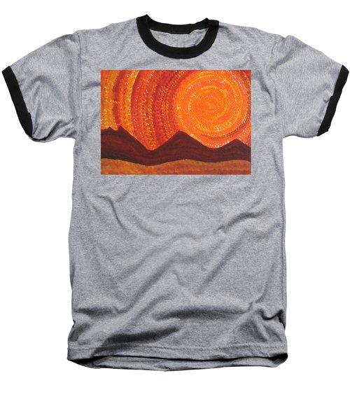 Western Sky Wave Original Painting Baseball T-Shirt