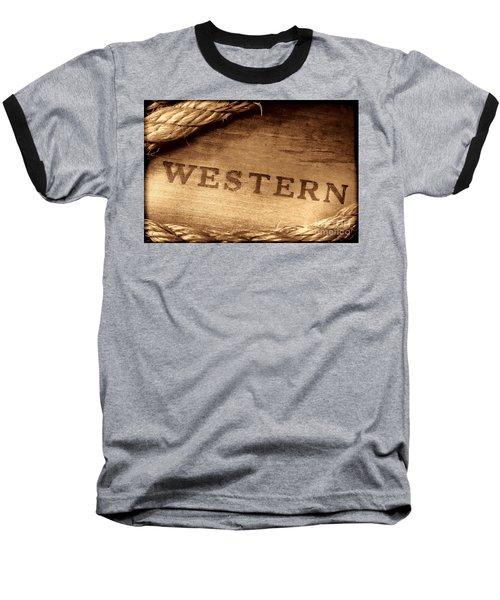 Western Stamp Branding Baseball T-Shirt