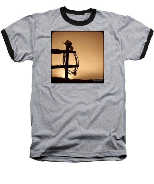 Western Sunset Baseball T-Shirt by American West Legend By Olivier Le Queinec
