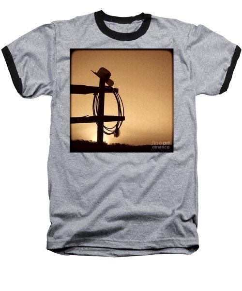 Western Sunset Baseball T-Shirt