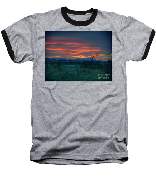 Western Texas Sunset Baseball T-Shirt