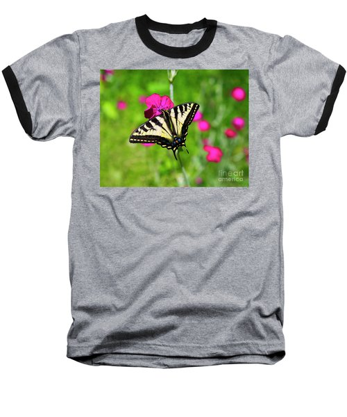Western Tiger Swallowtail Butterfly Baseball T-Shirt