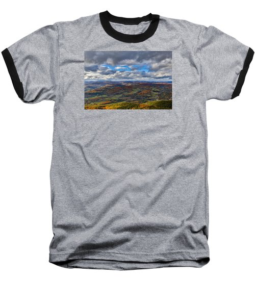Western View From Mt Ascutney Baseball T-Shirt