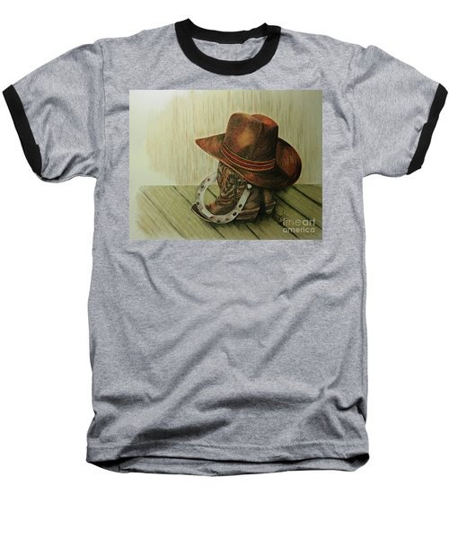 Western Wares Baseball T-Shirt by Terri Mills