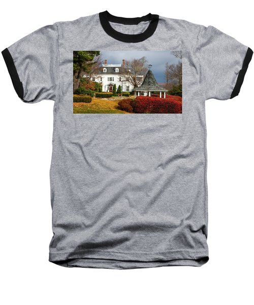 Baseball T-Shirt featuring the photograph Westglow In Autumn by Karen Wiles