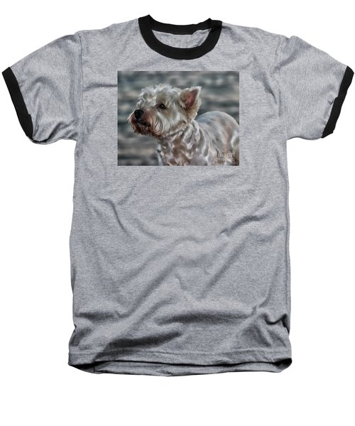 Westie Love Baseball T-Shirt by Clare Bevan