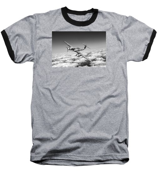 Baseball T-Shirt featuring the photograph Westland Whirlwind Portrait Black And White Version by Gary Eason