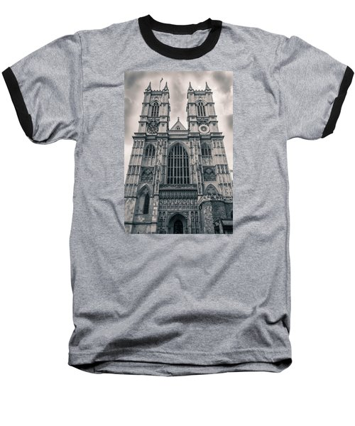 Westminister Abbey Bw Baseball T-Shirt