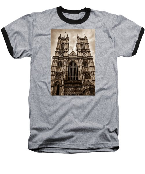 Westminister Abbey Sepia Baseball T-Shirt
