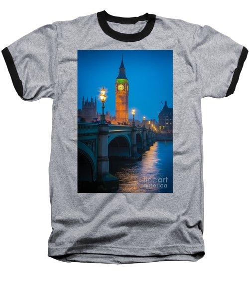 Westminster Bridge At Night Baseball T-Shirt