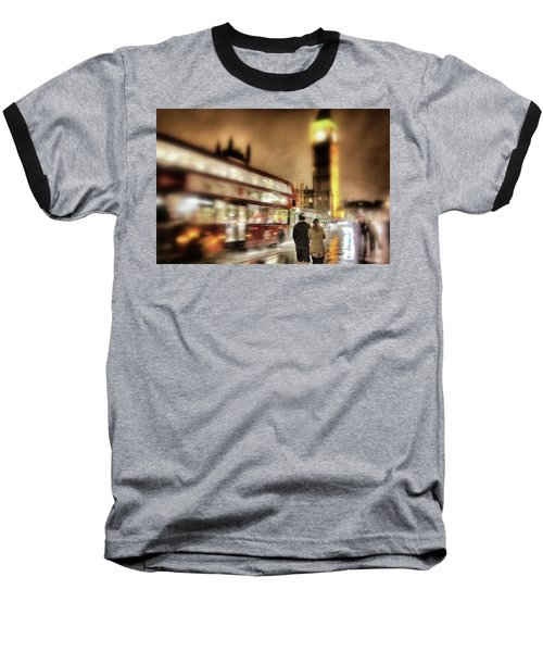 Baseball T-Shirt featuring the photograph Westminster Bridge In Rain by Jim Albritton