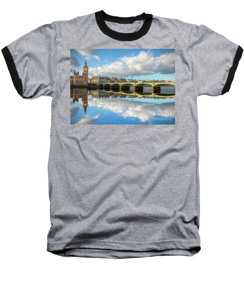 Baseball T-Shirt featuring the photograph Westminster Bridge London by Adrian Evans