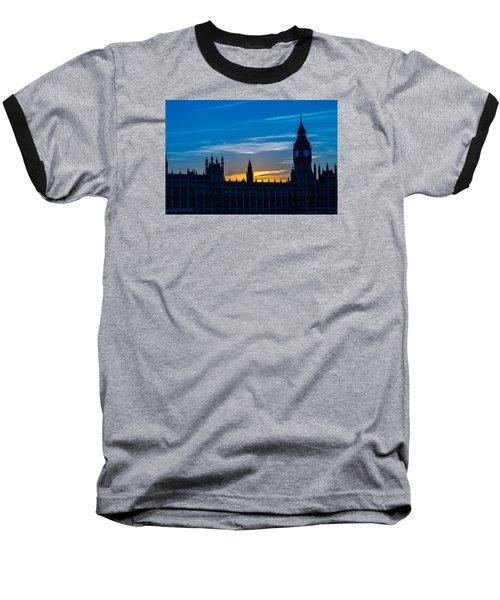 Westminster Parlament In London Golden Hour Baseball T-Shirt