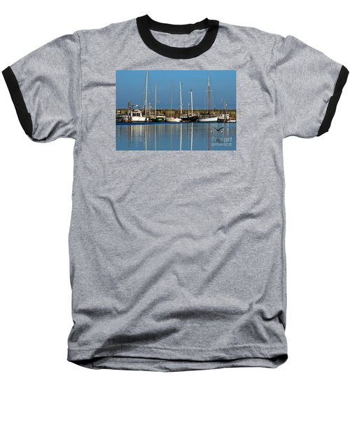 Westport Fishing Fleet I Baseball T-Shirt by Chuck Flewelling