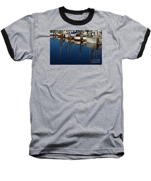 Westport Fishing Fleet II Baseball T-Shirt by Chuck Flewelling