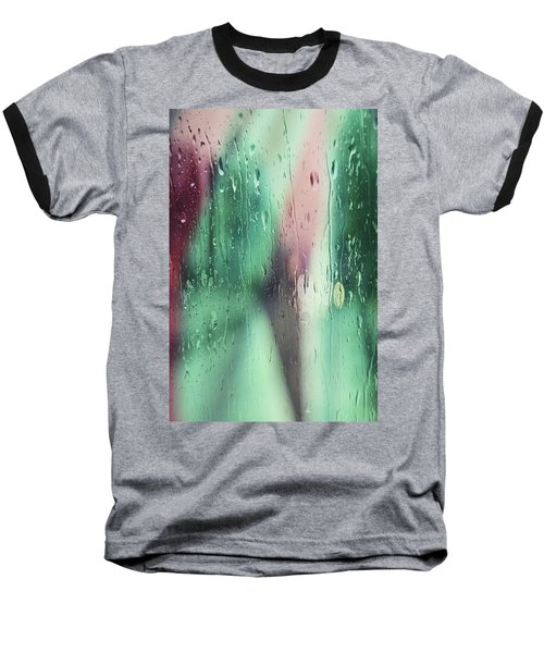 Wet Aqua Baseball T-Shirt by Allen Beilschmidt