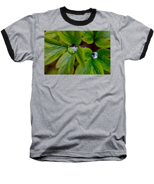 Baseball T-Shirt featuring the photograph Wet Bleeding Heart Leaves by Brent L Ander